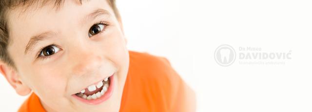 Stomatologija DAVIDOVIĆ - Dječija stomatologija